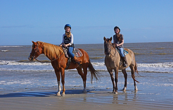 SC, Thanksgiving, S&E on beach horseback ride, Seabrook Island, SC; 11-27-2015