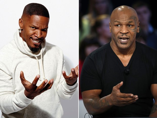 """. 7. (tie) JAMIE FOXX & MIKE TYSON <p>We�d be more impressed if it was Tyson portraying Foxx in an upcoming movie. (unranked) </p><p><b><a href=\""""http://variety.com/2014/film/news/jamie-foxx-terrence-winter-mike-tyson-1201266853/\"""" target=\""""_blank\""""> LINK </a></b> </p><p>   (Associated Press, Getty Images photos)</p>"""