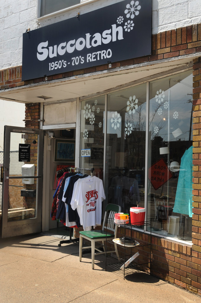 . Succotash on Raymond Ave. in St. Paul offers vintage goods from clothes to home furnishings from the 1950\'s-1970\'s.   (Pioneer Press: Ginger Pinson)