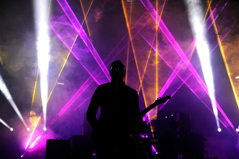 . Ghostland Observatory performs during Winter on the Rocks at Red Rocks Amphitheatre on January 31, 2014 in Morrison, Colorado. (Photo by Seth McConnell/The Denver Post)