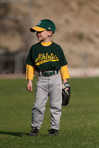 T-ball A's vs Cardinals