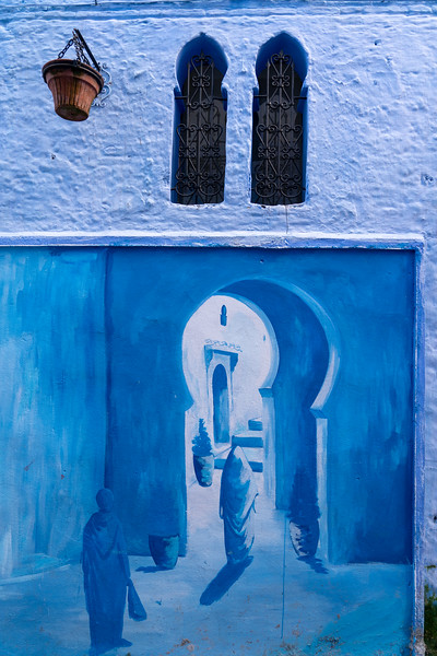 Painting in Chefchaouen, Morocco