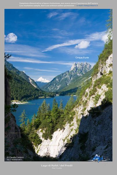Lago di Raibl / del Predil - Cinque Punte - Alpi Giulie  Foto Claudio Costerni n. 060808-9871