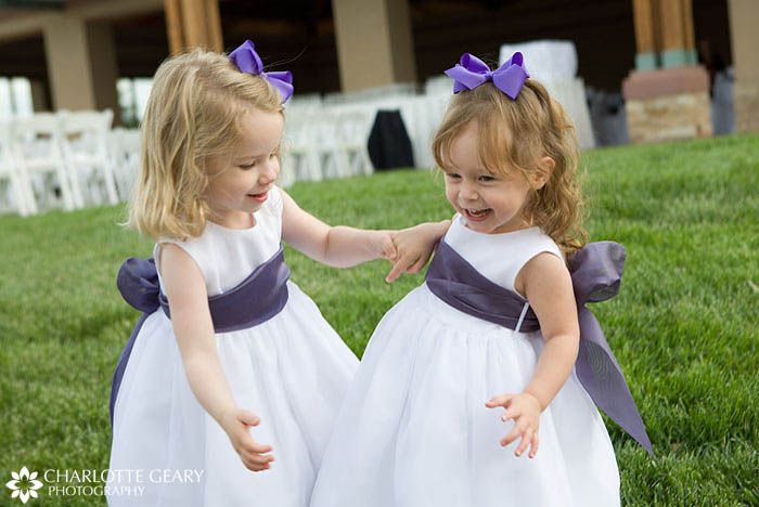 Purple flower girls