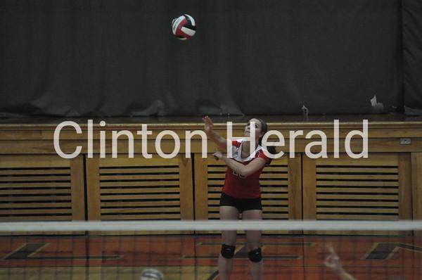 Burlington at Clinton volleyball (9-16-14)