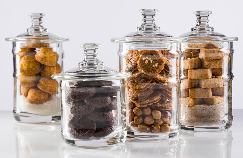 Amenities in jars for the Pierre Herme menu at Morpheus Macau.