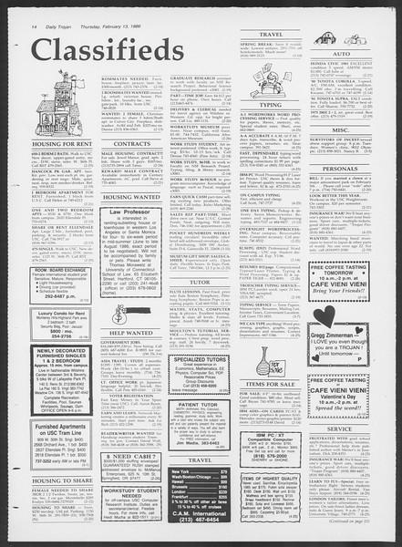 Daily Trojan, Vol. 100, No. 25, February 13, 1986