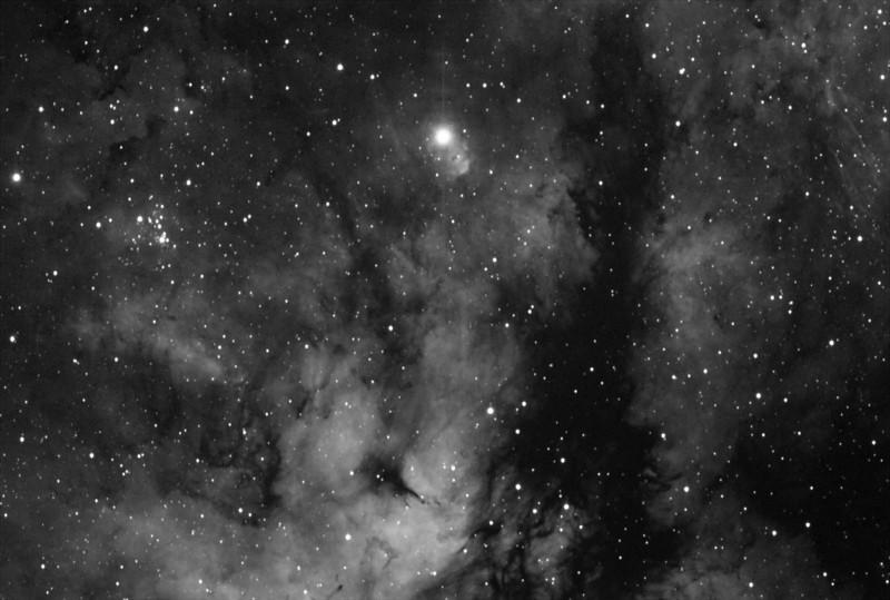 Gamma Cygni region in Cygnus rendered in hydorgoen alpha light.