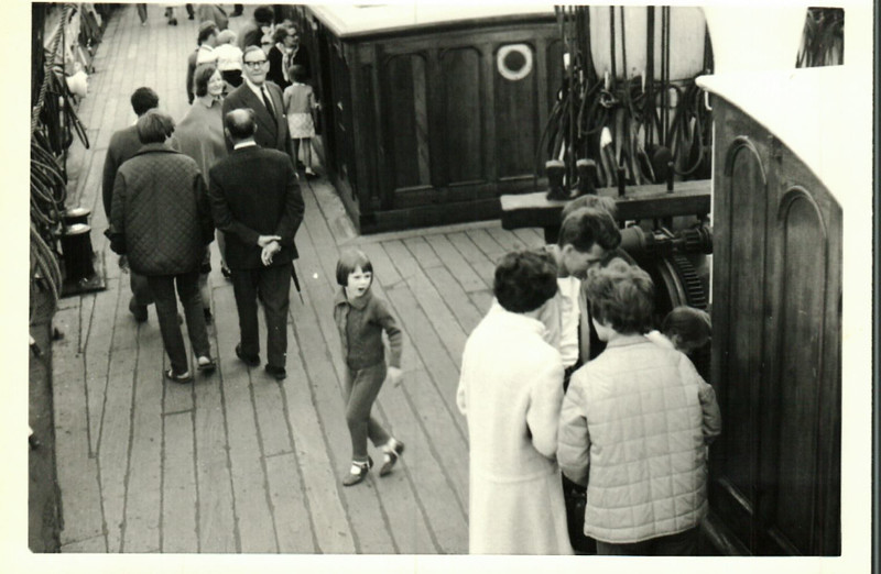 Jean with Sheila, Norma and Albert at the Cutty Sark