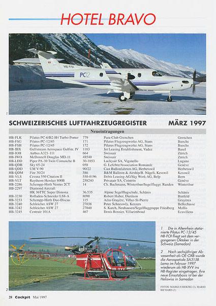 Cockpit – Hotel Bravo No.3 1997