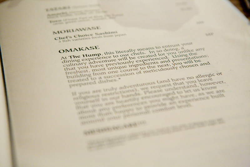 description of the omakase