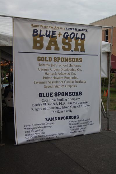 April 21, 2012. Inaugural Blue & Gold Bash