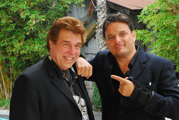 2010-09-07, Pete Allman and Damian Chapa, after the So You Photography Interview by Pete Allman.