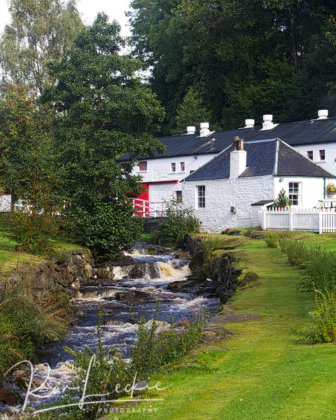 Edradour: One of Scotland's smallest - and certainly a beautiful setting.