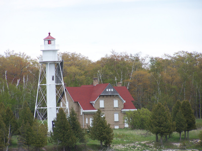 Plum Island. The white tower is not a lighthouse, but the rear range light of the Plum Island Range Lights.