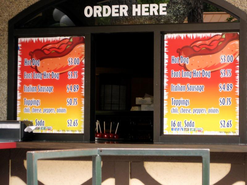 Some shots of menus.