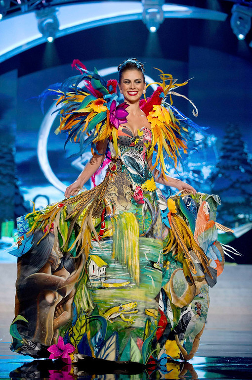 . Miss Brazil Gabriela Markus performs onstage at the 2012 Miss Universe National Costume Show at PH Live in Las Vegas, Nevada December 14, 2012. The 89 Miss Universe Contestants will compete for the Diamond Nexus Crown on December 19, 2012. REUTERS/Darren Decker/Miss Universe Organization/Handout