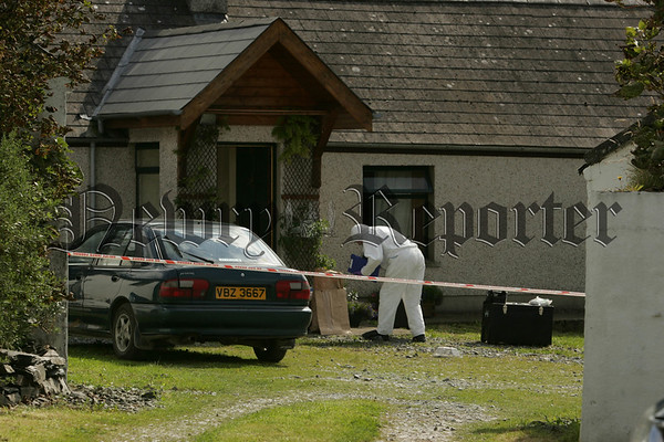 The Scene at the Edentrumly Road outside Mayobridge were two bodies were discovered on Tuesday. 07W35N28
