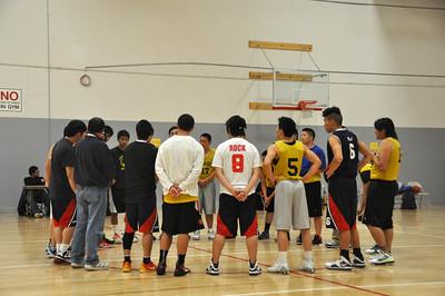 PCC/Cameron House Gold vs LCHS Holy Spirit Flames CCU Summer League Basketball 6.7.2012