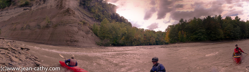 This is the confluence of Cattaraugus Creek and South Cattaraugus Creek.