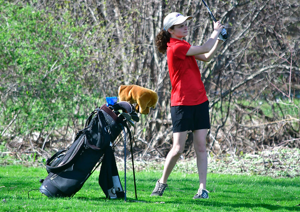 4/23/2019 Mike Orazzi | Staff St. Paul's Erin Downes at the Westwoods Golf Course on Tuesday.