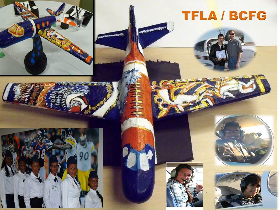 . Students design an airplane in honor of the Broncos, our future pilots.