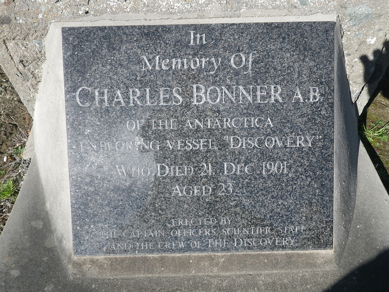 Poor Bonner fell from the rigging as the ship left the docks, hit his head on the way down. Paid my respects. Port Chalmers