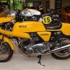 Yellow Norton Commando
