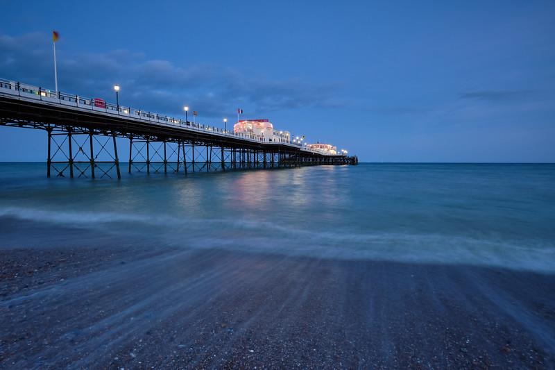 Worthing pier blue hour