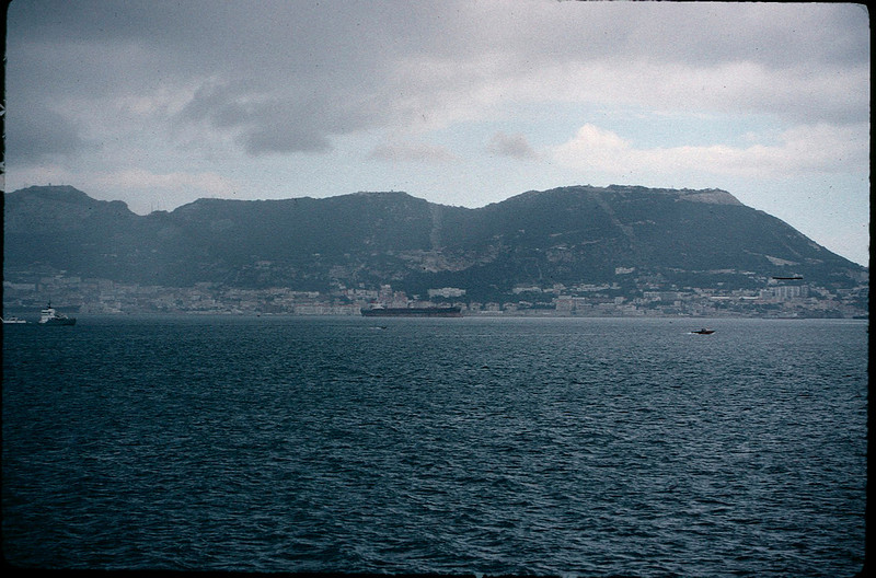 crossing the Straits of Gibraltar from Europe to Africa