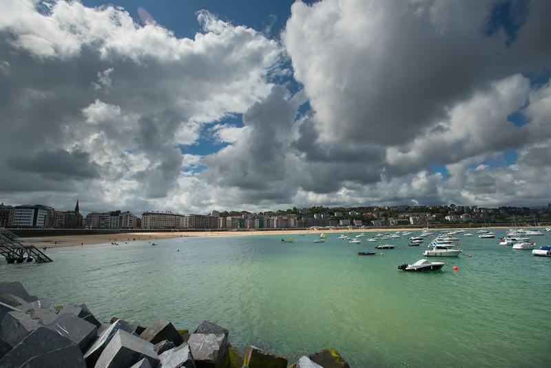 View over bay in San Sebastian