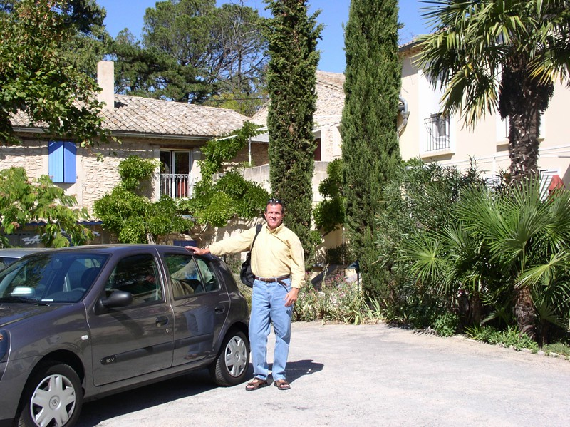 dale with car in st remy.JPG