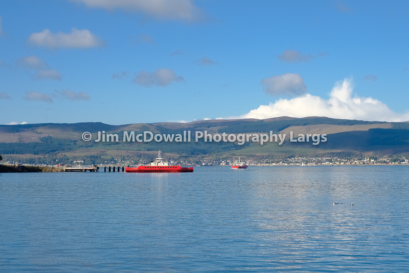 Two Car Ferries on the River Clyde at McInroy's Point Gourock