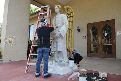 Father Vargas Painting Angel