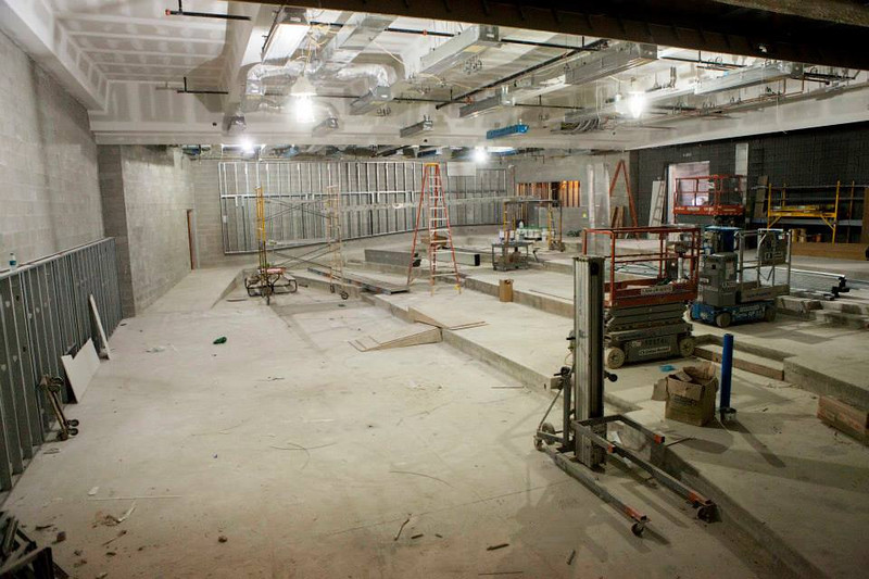 . A 200-seat auditorium on the first floor. (Photo by Jason Willis/Oakland University)