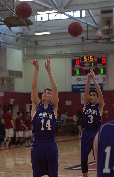 Piedmont Freshman Basketball vs. Arroyo 2/5/16