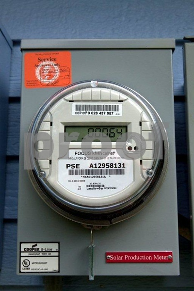 Meter to measure solar power generated.
