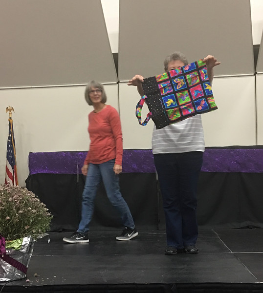 Janet Keesler also made this foldable bag.