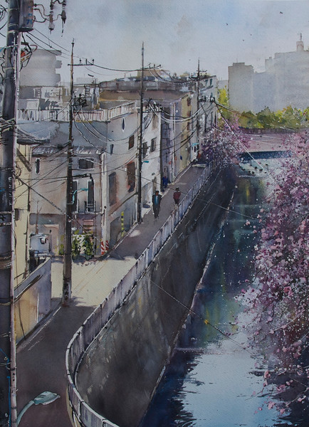 Gabrielle Moulding - Wires and Blossoms, Meguro