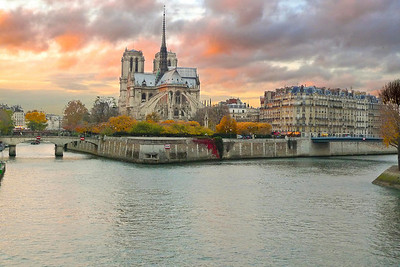 View of Notre Dame on a late fall afternoon.