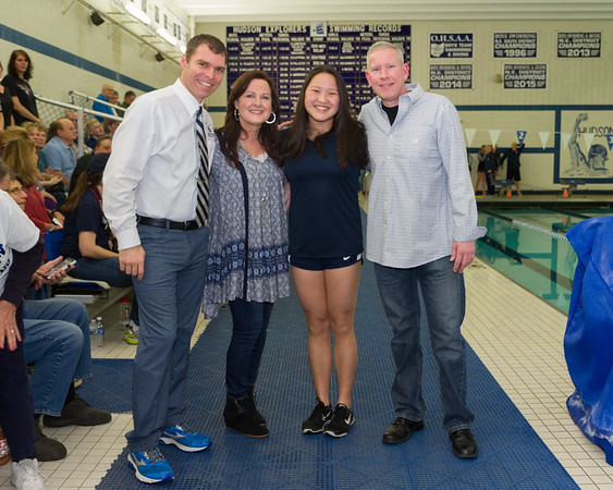 HHS Swimming Senior Night 2017