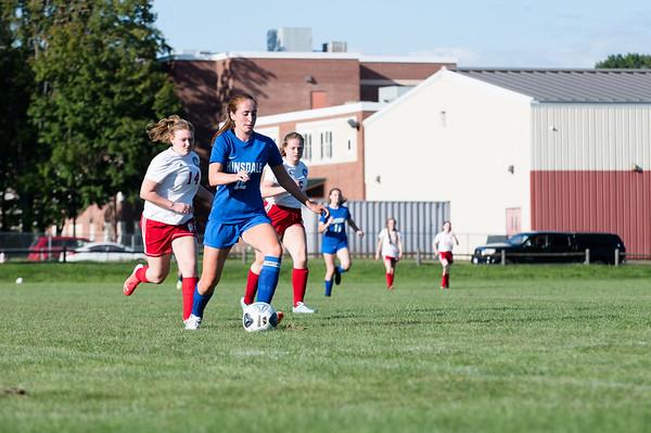 Hinsdale girls varsity soccer vs. Mount Royal Academy 090221