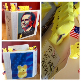". ""A Binder Full of peeps!\"" by Sue Cranston, River Falls, Wis."