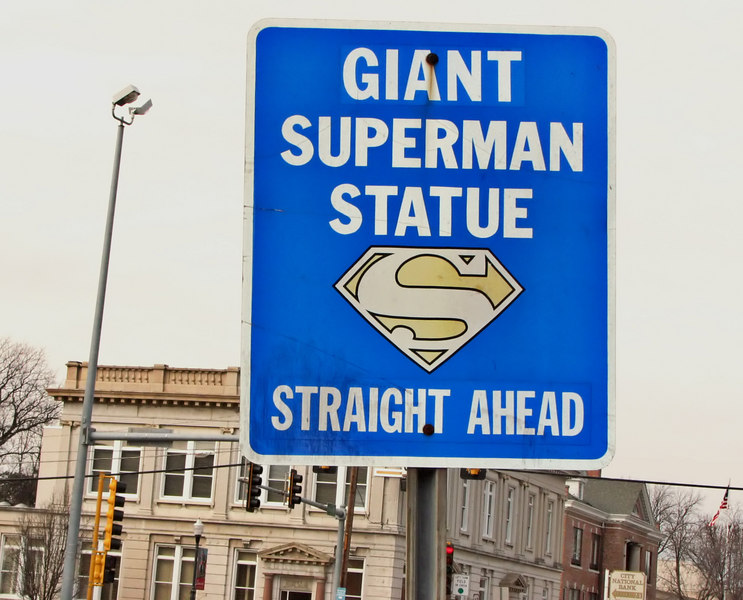"""Better, we suppose, than """"Great Big Superman Statue."""""""