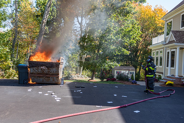 dumpster fire 42 Twinnbrook Salem
