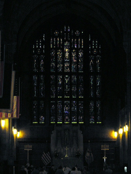 Stained Glass window at Chapel Alter