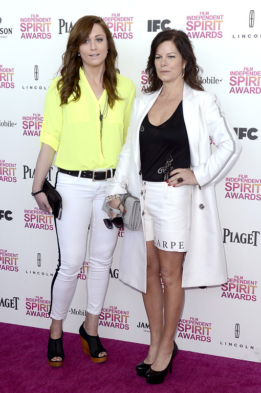 . SANTA MONICA, CA - FEBRUARY 23:  Actress Marcia Gay Harden (R) attends the 2013 Film Independent Spirit Awards at Santa Monica Beach on February 23, 2013 in Santa Monica, California.  (Photo by Frazer Harrison/Getty Images)