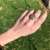 .38ctw Antique Diamond and Ruby Buckle Ring 8
