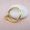 .35ct (est) Green-Gray Pear Rose Cut Chunky Bezel Ring 4