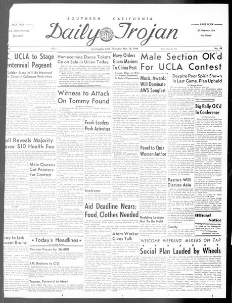 Daily Trojan, Vol. 40, No. 48, November 18, 1948